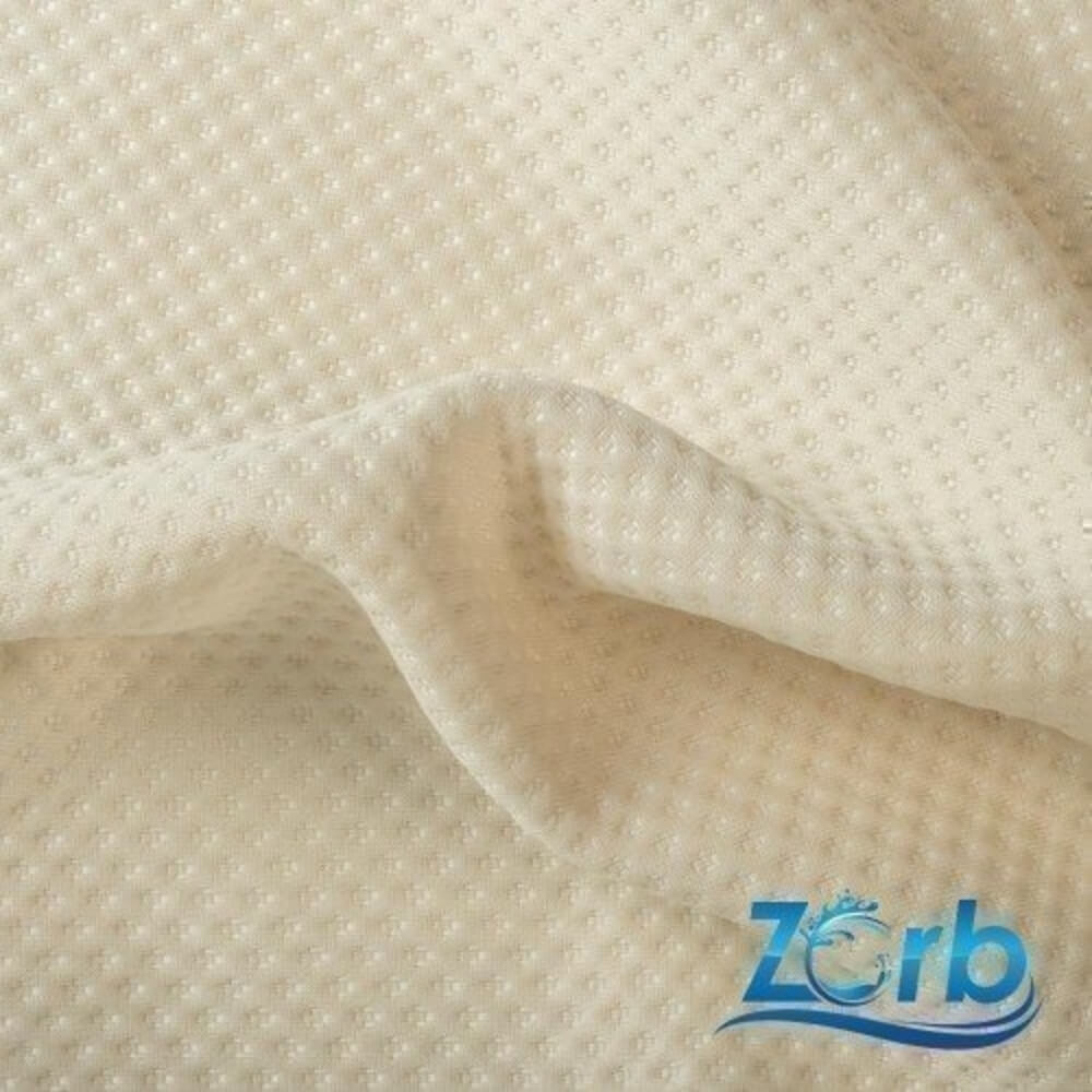 Zorb® 3D Polyester Stay Dry Dimple Fabric in Natural