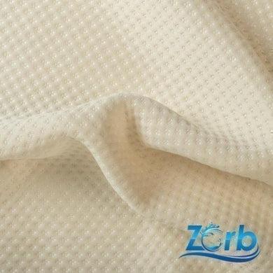 Zorb® 3D Polyester Stay Dry Dimple Fabric in Natural per Metre