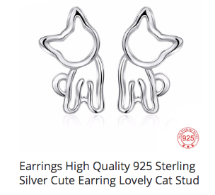 Crazy 4 Cats earrings!