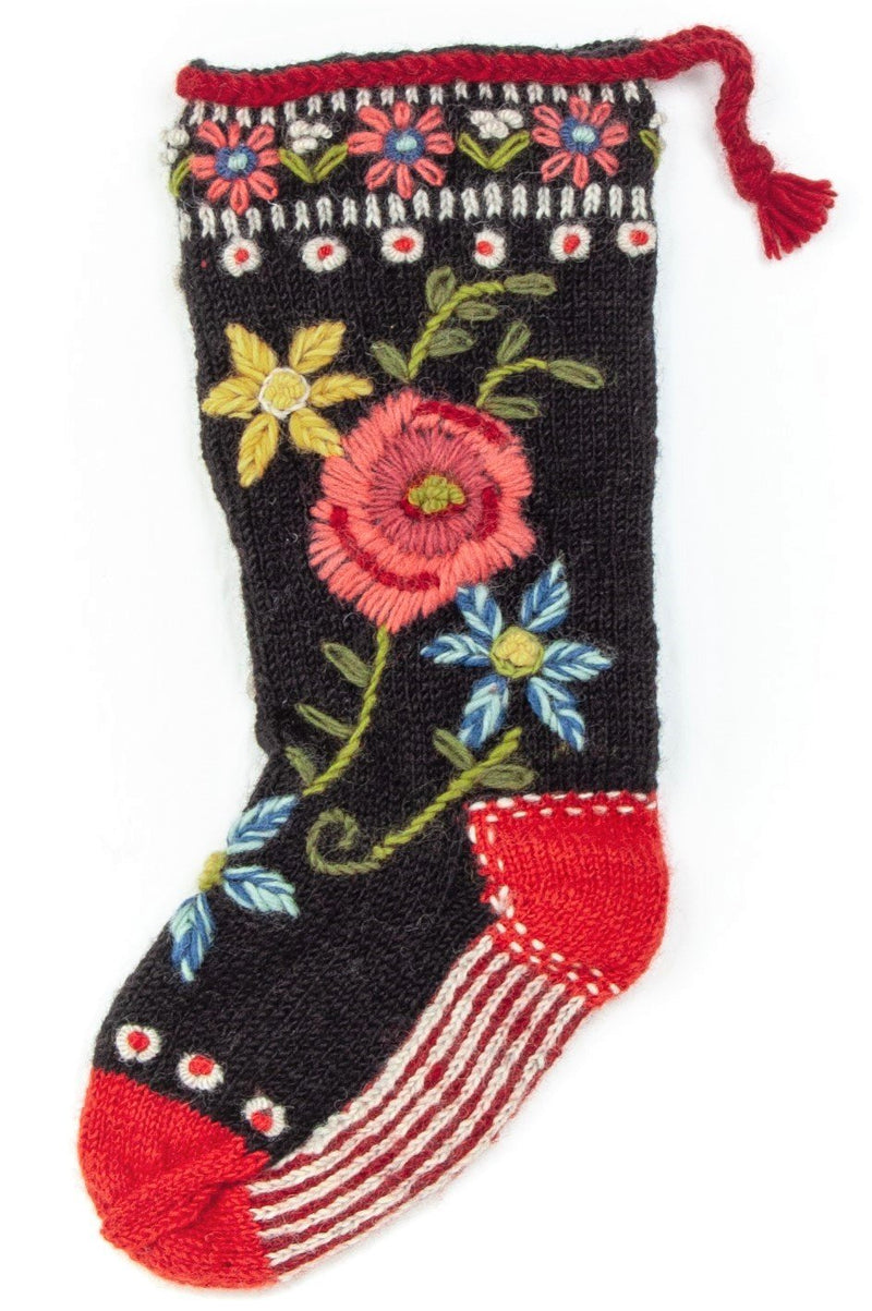 Floral spray Christmas stocking by Lost Horizons