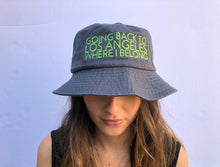 Load image into Gallery viewer, Going Back to LA Gray Embroidered Bucket Hat