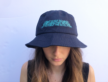 Load image into Gallery viewer, James Turrell Navy Embroidered Bucket Hat