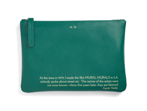 Agnès Varda Forest Green Leather Pouch