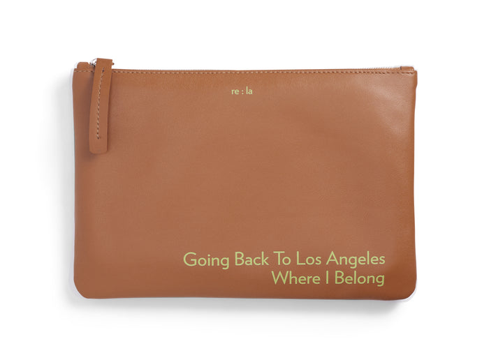 Going Back to LA Cognac Leather Pouch
