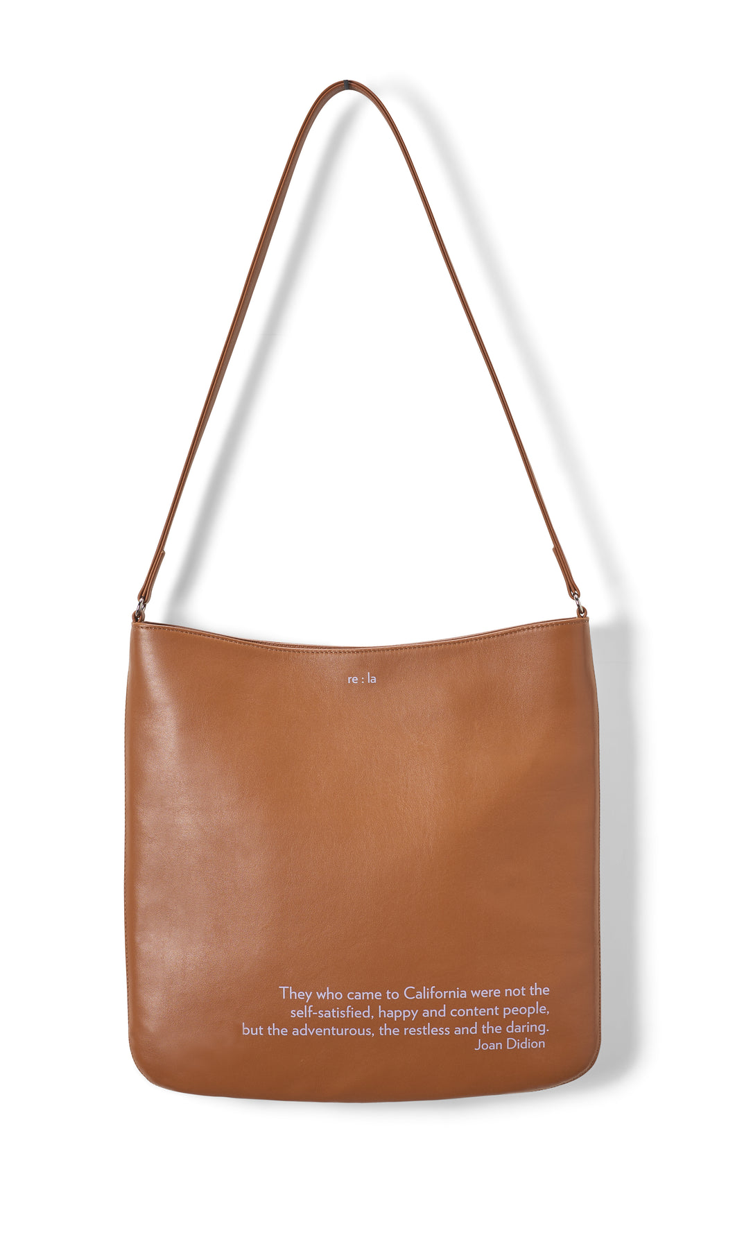 Joan Didion Cognac Crossbody Bag