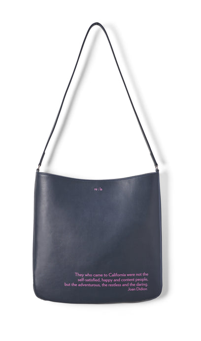 Joan Didion Navy Crossbody Bag