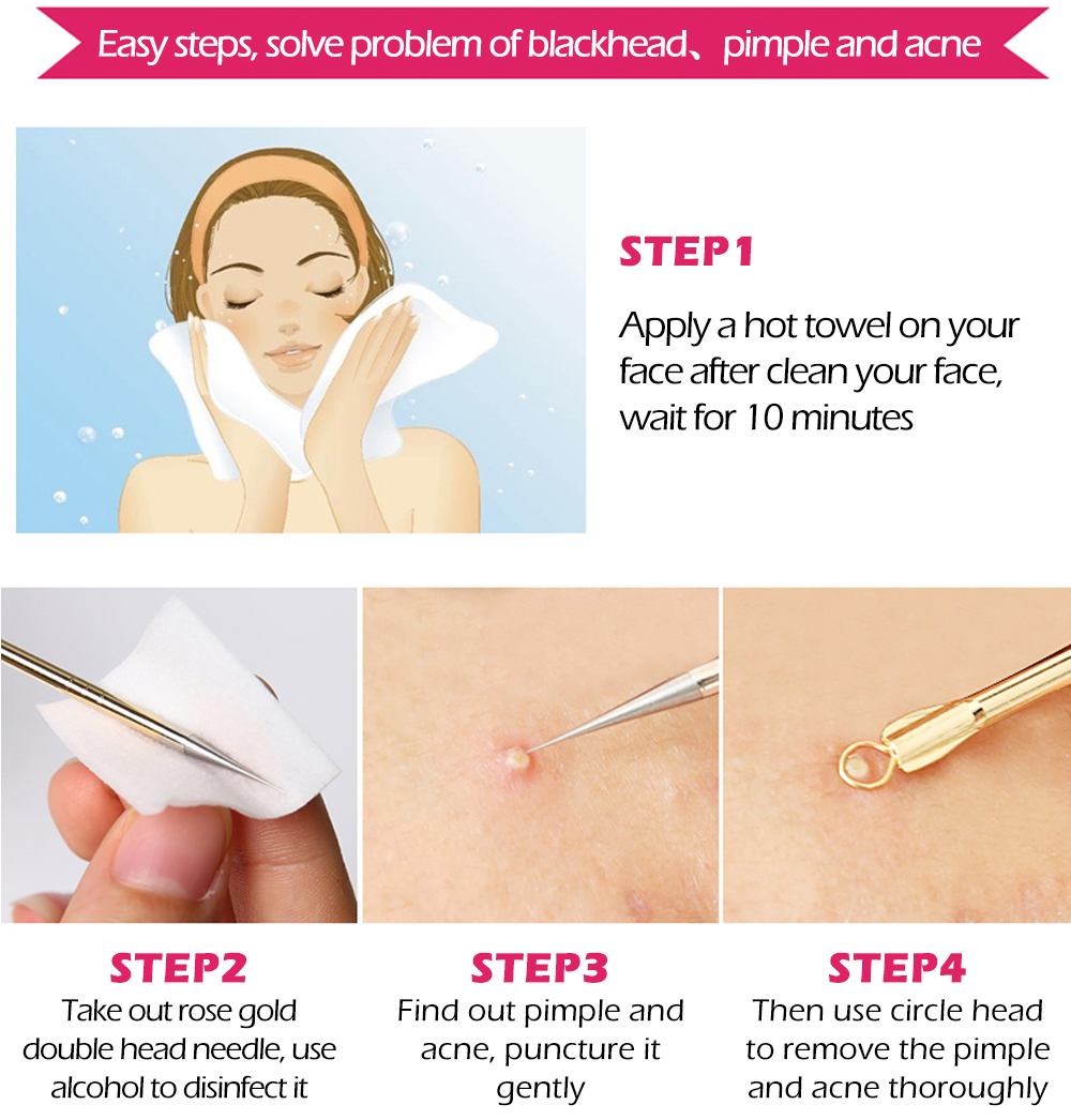 Acne & Blackhead Pimple Needle Extractor