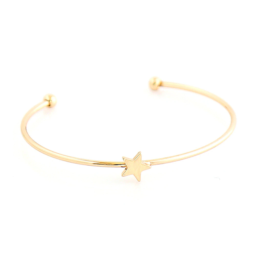 Moon And Star Shaped Bracelet