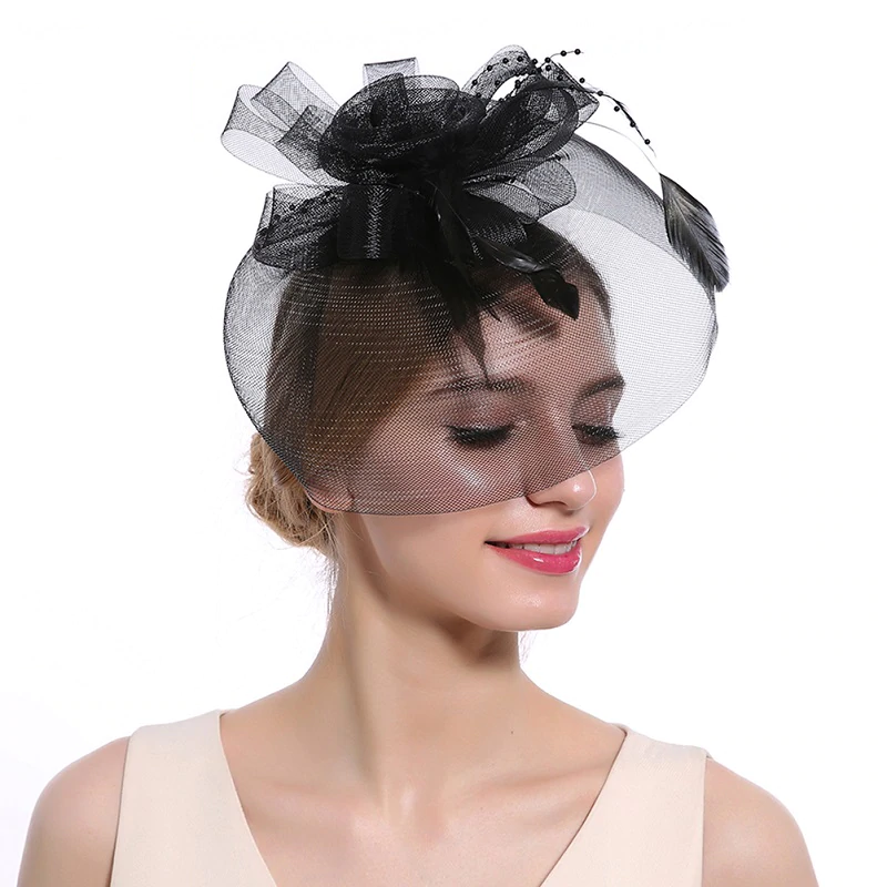 Feather Flower Fascinator