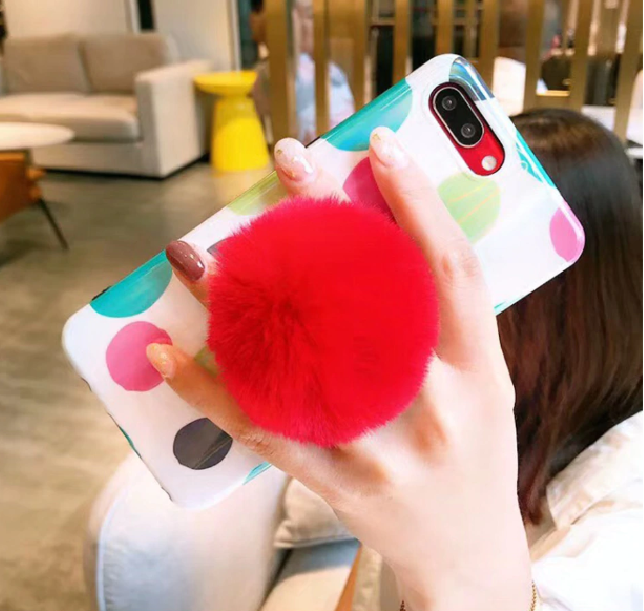 Plush Colorful Phone Holder