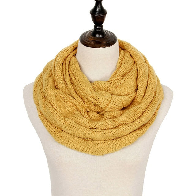 Knitted Warm Snood Scarf