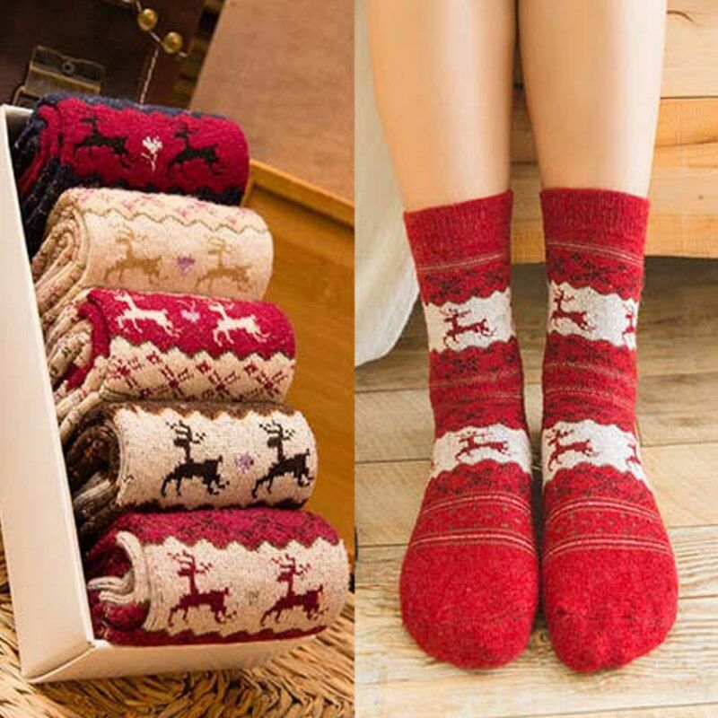 Winter Christmas Socks