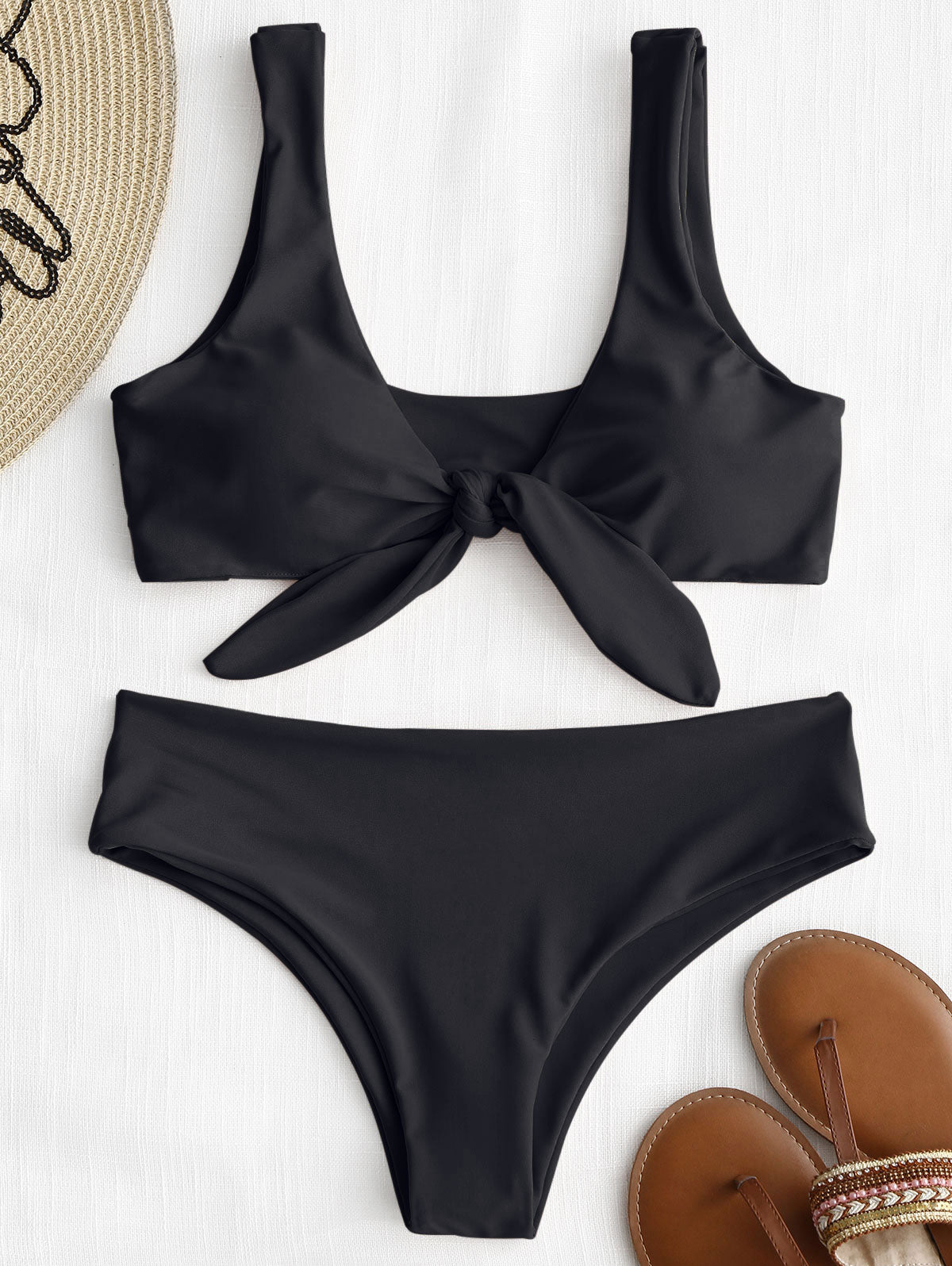 Knotted Padded Thong Swimsuit
