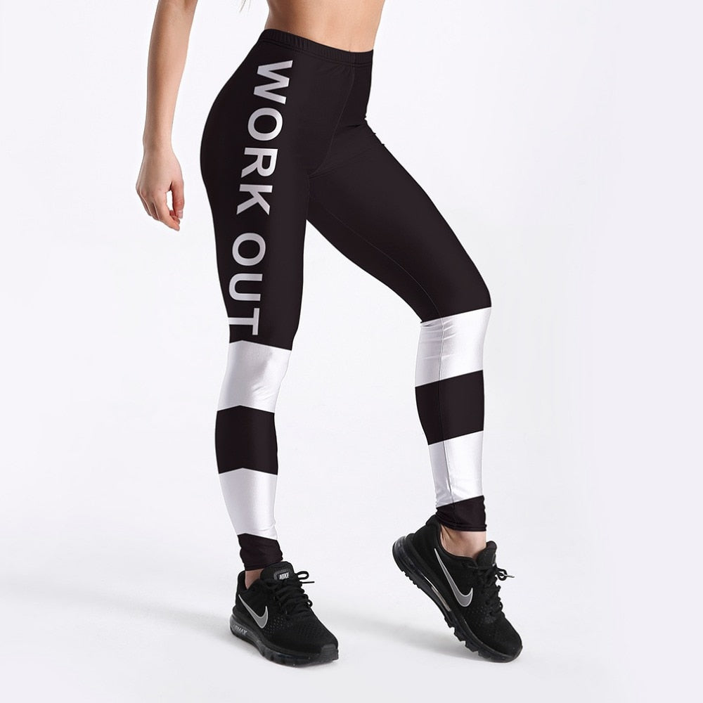 Letter Printed Leggings