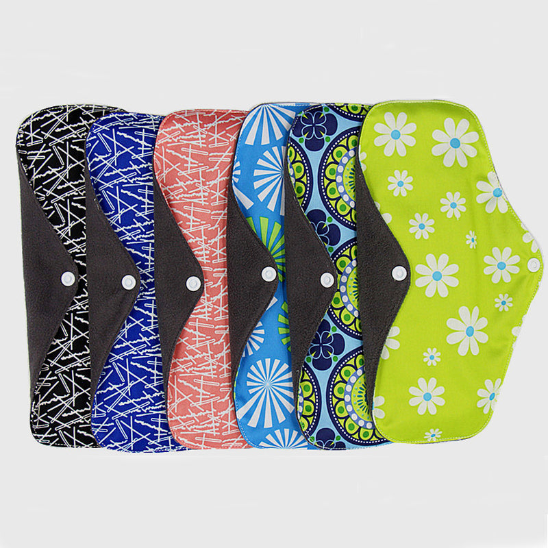 5pcs Easy Wash And Dry Reusable Menstrual Pad