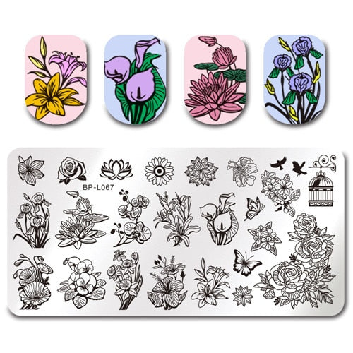 Floral Nail Stamp