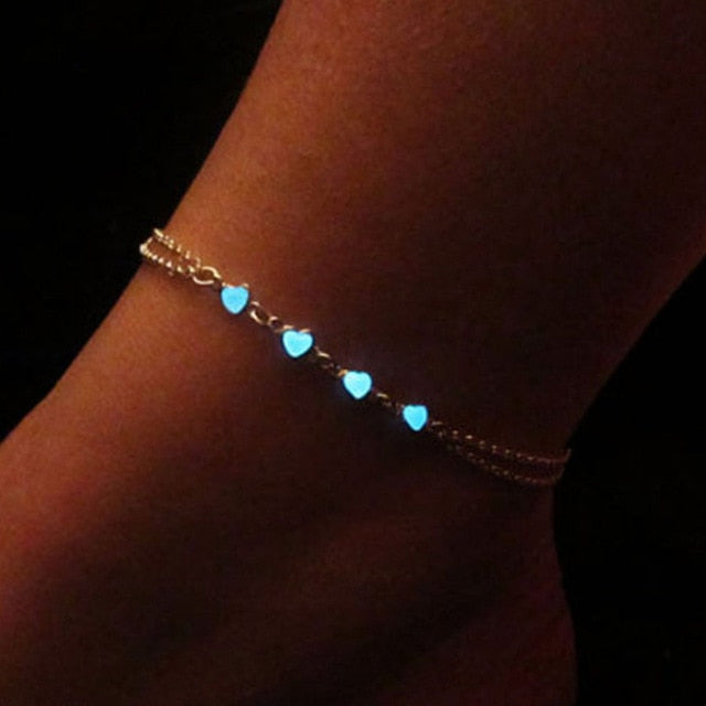 Luminous Heart Anklet