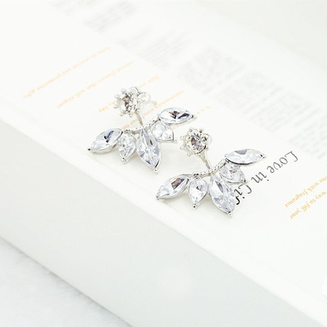 Crystal Double Sided Party Drop Earrings