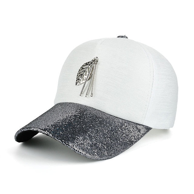 Bling Snap back Leaf Cap