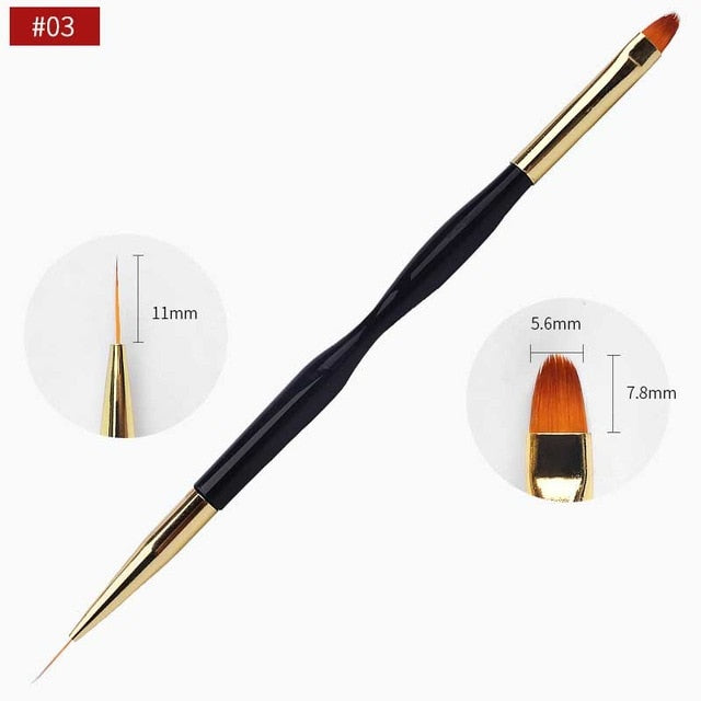Dual-End Line Drawing Nail Art Brush