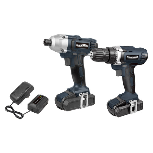 ROCKWELL 18V TWO PIECE KIT WITH DRILL DRIVER AND IMPACT DRIVER