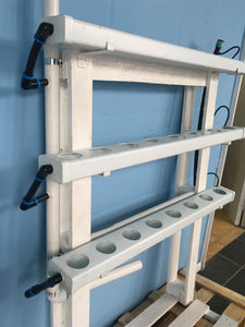 Wall mount hydroponic system