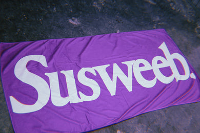 SUSWEEB Purple Beach Towel