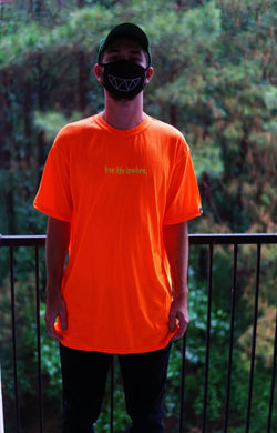 LIVE LIFE LOWKEY NEON Orange T-Shirt