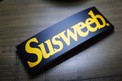 SUSWEEB Gold Oil Slick Logo Slap