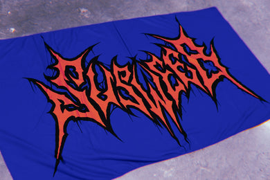 SUSWEEB BLUE/RED METAL LOGO Beach Towel