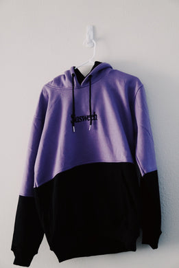 SUSWEEB TWO YEAR SPLIT HOODIE Purple/Black