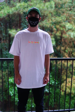 LIVE LIFE LOWKEY NEON White T-Shirt