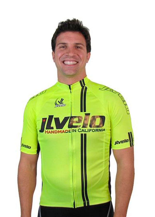 Tech Shirts Technical Shirts Performance Top Performance Tank Workout Top Long Sleeve Short Sleeve Tshirt Men's California Incognito Jersey Hi-Viz JL Velo $100-$200, Cycle, Hi-Viz Gear, Jerseys, Men's, Tops $119.00 Size Small  JLAthletics
