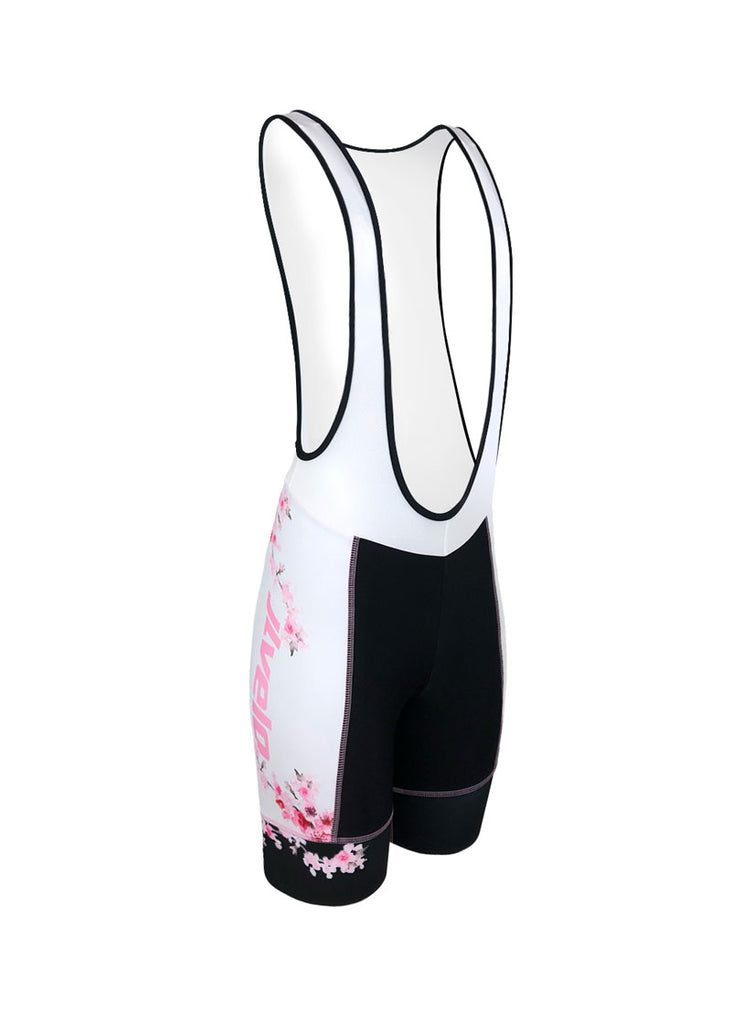 Women's Cherry Blossom Team Ringer Bibshorts