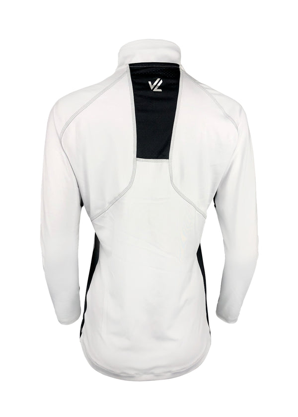 Women's Thermo-light Performance Quarter Zip White/ Steel