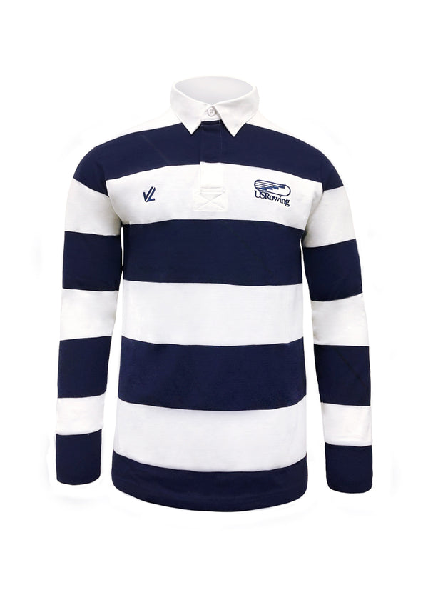 USRowing Rugby Shirt Navy/White