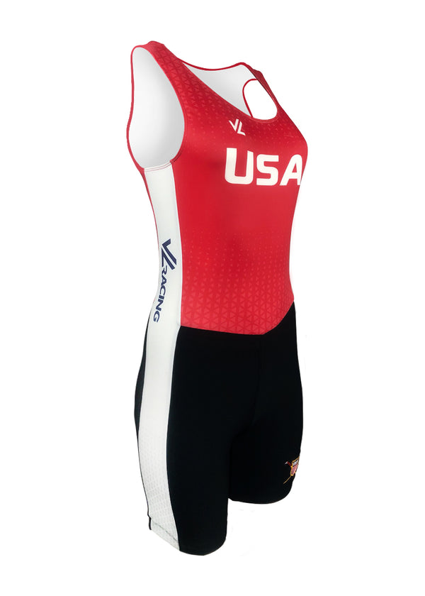 USRowing Women's Unisuit Red