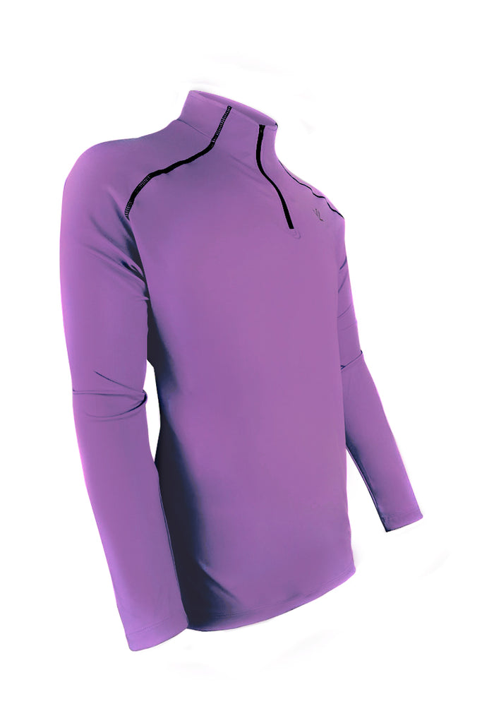 Men's Thermo-light Performance Quarter Zip Amethyst/Steel