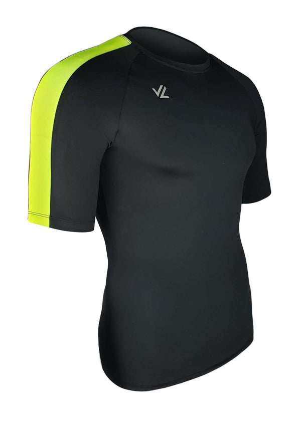 Drywick Short Sleeve Tech Shirt Black/Hi-Viz