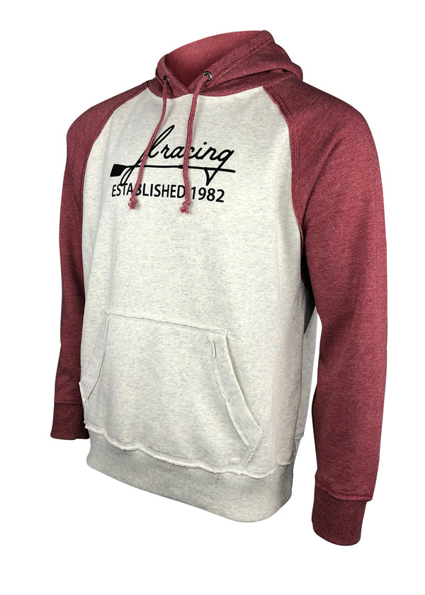 Script Logo Hoodie Oatmeal/Vintage Red JL Racing $10-$50, Casual, Hoodies + Sweatshirts, Long Sleeve, Men's, Outerwear, Sweats, Tops, What's New, Women's $49.95 Size Small  JLAthletics
