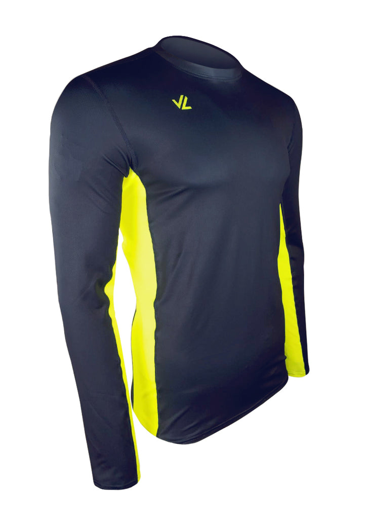 Loose-Fit Performance Tech Shirt Navy/Hi-Viz