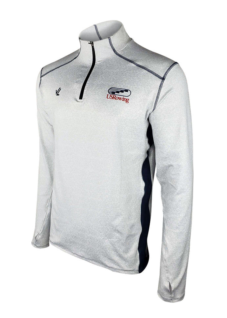 USRowing Men's Quarter Zip Gray