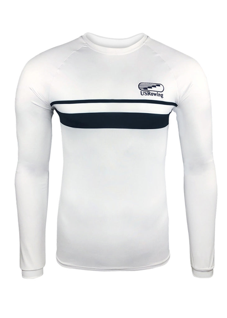 USRowing Men's Long Sleeve Tech Shirt White