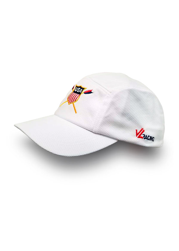 USRowing Crest Tech Hat White