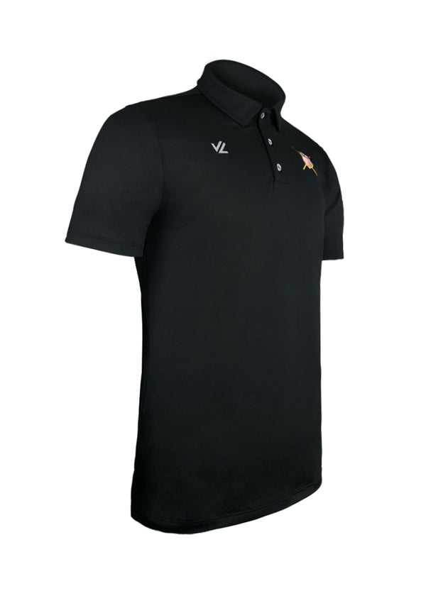 USRowing Men's Performance Polo Black Crest