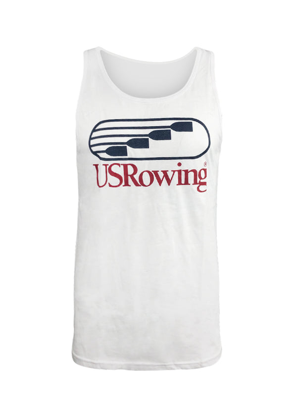 Tech Shirts Technical Shirts Performance Top Performance Tank Workout Top Long Sleeve Short Sleeve Tshirt USRowing Men's Tank White US Rowing $10-$50, Men's, Tank Tops, Tops, Women's $24.95 Size XSmall  JLAthletics