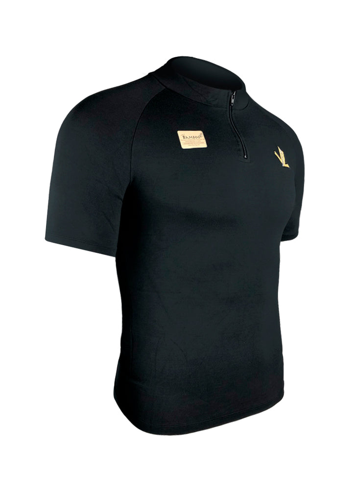 Short Sleeve Bamboo Tech shirt Black