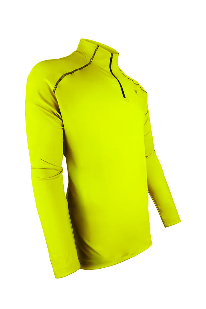 Men's Thermo-light Performance Quarter Zip Sulphur/Steel JLAthletics QZ19 $69.95 Size Small  JLAthletics