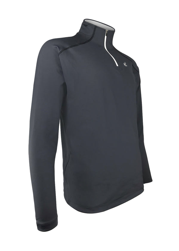 Men's Thermo-light Performance Quarter Zip Black/Steel JLAthletics QZ19 $69.95 Size Small  JLAthletics