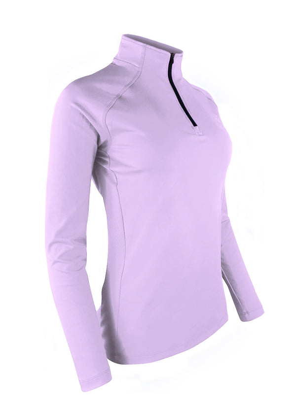 Women's Thermo-light Performance Quarter Zip Lilac JL Racing QZ19 $69.95 Size Small Color Lilac JLAthletics